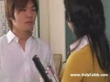 Asian Teacher Does Student in the Shower