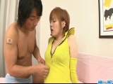 Cock sucking Kaoru Amamiya gets pumped hard