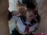 Minami in uniform is fucked in slit