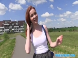 Publicagent Sexy Redhead Student Fucked From Behind On A Hil