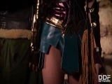 Anissa Kate - Horny Wonderwoman  Salacious Babe in Costume Fucked Up Her Ass