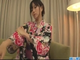 Cute Asian Cougar Manami Komukai threesome action!