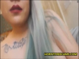 Chubby Blonde EMO Loves BJ And Close Up Pussy Play