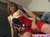 Sakurano ends naughty romance with sperm in her pussy