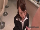 Office sex along lusty Japanese angel Hitomi Oki