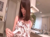 Sweet Hitomi Oki loves teasing with her naughty forms