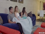 Alex Blake and Carolina Sweets - Exhibitionist Couple Share a Roomie