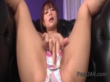 Busty Maika spreads her legs and fingers her pussy