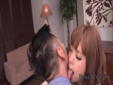 Kana Aono getting her tight twat drilled by a large dong