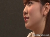 Japanese Cute Girl Motoyama Mari Sucking many Cocks in the G