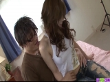 Izumi Koizumi tries dick in the pussy and cum on clit  - More at 69avs.com
