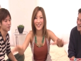 Rough sex play in threesome for alluring Aika - More at Pissjp.com