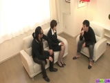 Extra spicy Akina Hara group sex on the couch - More at 69avs.com