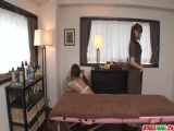 Maika bends on the table for a massage and a fuck - More at Japanesemamas.com