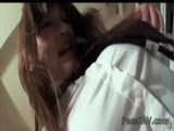 Adorable Yuu Sakura gives her boss a blowjob and he leaves her sticky with cum