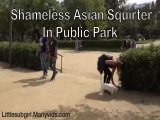 littlesubgirl - Shameless Asian Squirter in Public Park