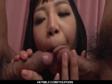 Strong threesome pleasures for shy Nozomi Yui - More at Japanesemamas.com