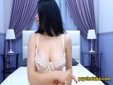 Asian Brunette Spreading Her Legs Live In Cam