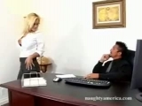 Shyla Stylez - having fun in the office